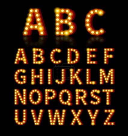 Lightbulb font