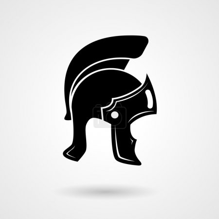 Ancient legionnaire helmet icon logo
