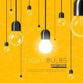 Light bulbs background Idea concept