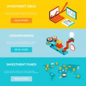 Business banners Crowdfunding investment ideas and funds