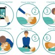 Emergency first aid cpr procedure. Health and medi...