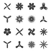 Propellers or funs icons set