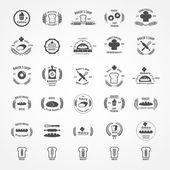 Vector set of vintage bakery logos
