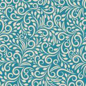 Seamless floral pattern on uniform background