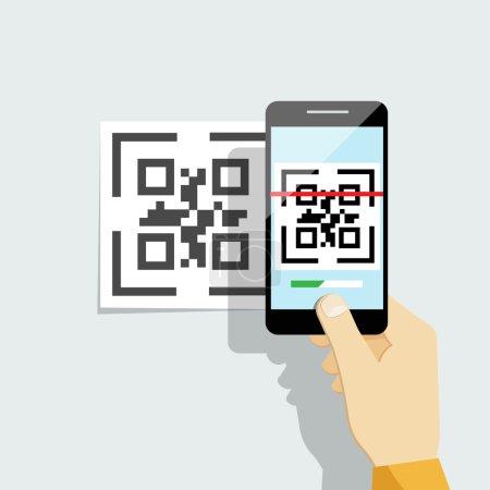 QR-Code auf dem Handy erfassen