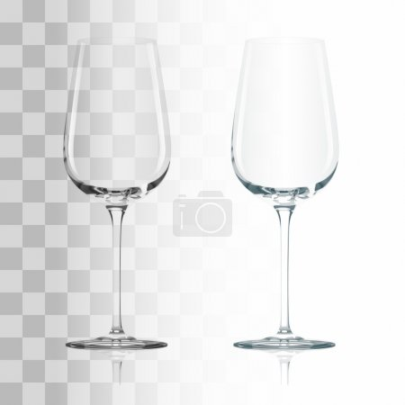 Illustration for Empty drinking transparent wine glass vector illustration - Royalty Free Image