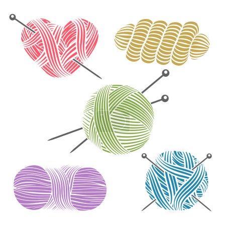 Hand drawn yarn for knitting