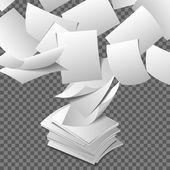 Létající listy papíru
