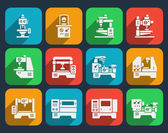 Processing milling turning and drilling machines icons