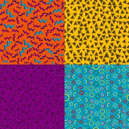 Vintage geometric retro patterns
