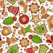 Christmas cookies pattern