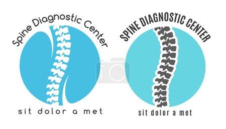 Spine medical diagnostics symbol or logo