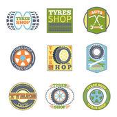 Tyre shop vintage flat badges