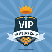 VIP Club members only vector background