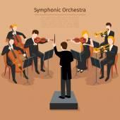 Symphonic orchestra vector illustration
