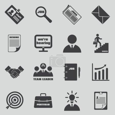Job icons vector set. Human resources and employment symbols