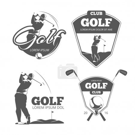 Vintage golf vector labels, badges and emblems