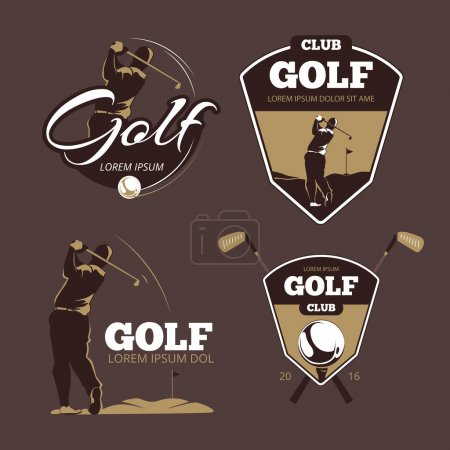 Golf country club vector logo templates