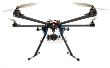 Photo for Multirotor system with camera at studio - Royalty Free Image