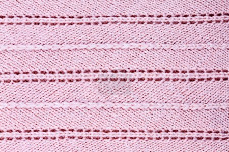 Pink knitted fabric background
