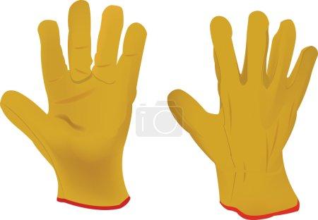 Yellow gloves work gloves hobby gardening...