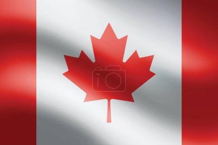 Illustration pour Drapeau canadien. Contexte drapeau canadien. Illustration vectorielle EPS10. - image libre de droit