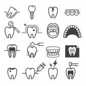 Dental tooth icons Vector illustration