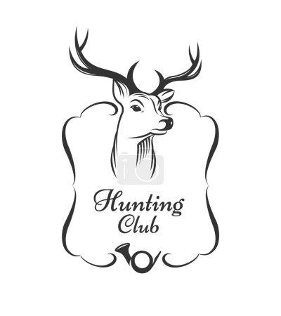 Illustration pour Badge club de chasse - image libre de droit