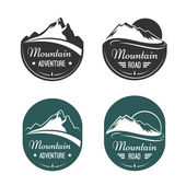 Mountain vector labels