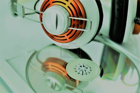 An concept Image of a headphone with a Music CD...