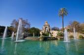 Famous fountain in Barcelona - Spain