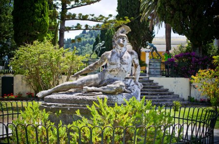 Statue of Wounded Achilles, Corfu, Greece