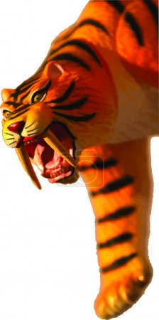 Illustration for A vector illustration of a saber-toothed tiger - Royalty Free Image