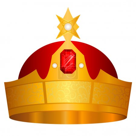 Gold crown vector