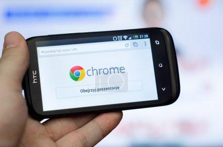 Google Chrome mobile web browser
