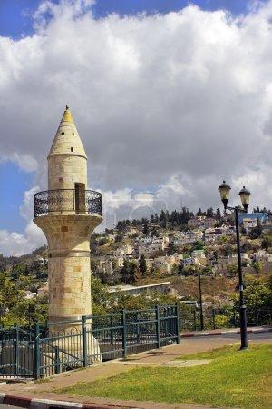 Old minaret in Safed, Israel