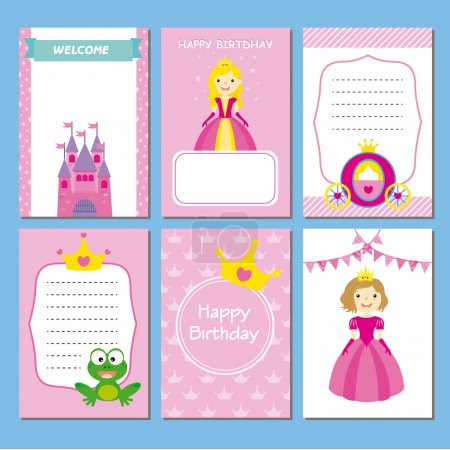 girl birthday party cards