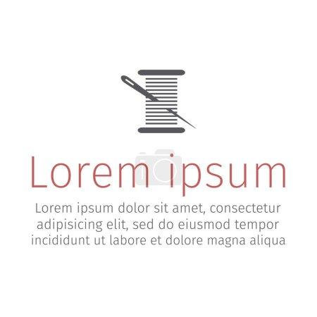 Illustration pour Aiguille et symbole de fil. Signes vectoriels pour les graphiques web - image libre de droit