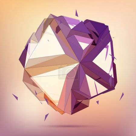 Illustration for 3D concept illustration. Vector Abstract geometric object - Royalty Free Image