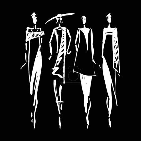 Illustration pour Belle silhouette de femme. Illustration de mode dessinés à la main - image libre de droit