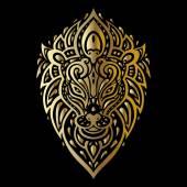 Lions head Tribal pattern