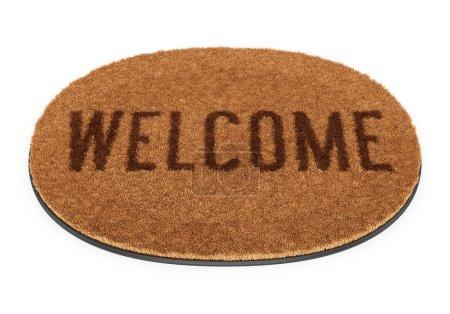Oval welcome doormat