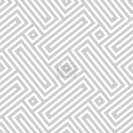Illustration for Vector seamless texture. Abstract geometric monochrome diagonal pattern. Modern mosaic background. - Royalty Free Image