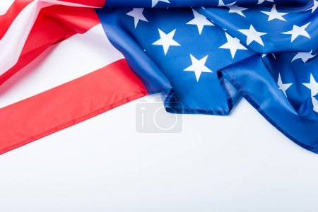 Photo for American flag with stars and stripes isolated on white - Royalty Free Image