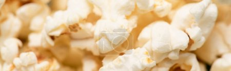 Photo for Close up view of airy crispy popcorn, banner, cinema concept - Royalty Free Image
