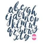 Hand made brush and ink typeface. Handwritten retr...