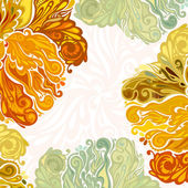 Autumn leaves floral design element model for design of gift packs patterns fabric wallpaper web sites etc