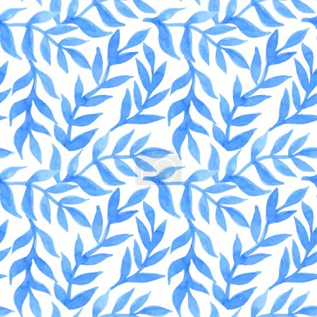 Spring leaves seamless watercolor pattern-model for design of gi