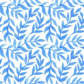 Spring leaves seamless watercolor pattern-model for design of gi