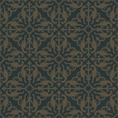 Golden seamless pattern on a dark green background
